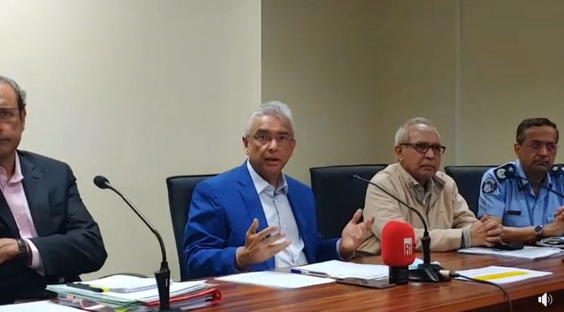 Prime Minister of Mauritius press conference on Wakashio