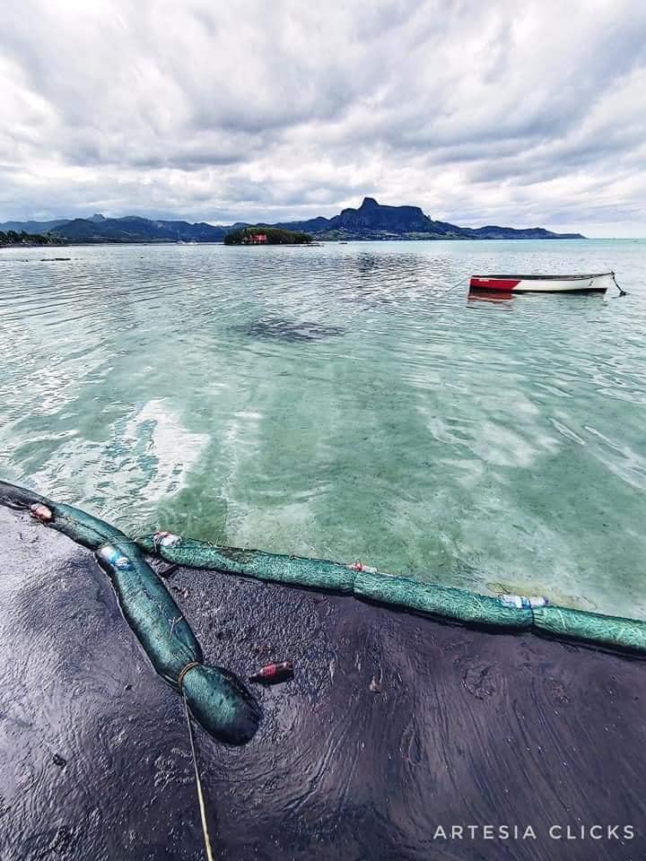 Artisanal buoys traps oil spilled from Wakashio